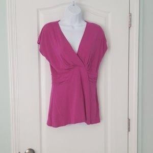 Fusia short sleeve blouse